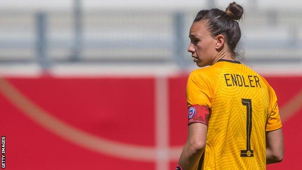 Christiane Endler playing against Germany