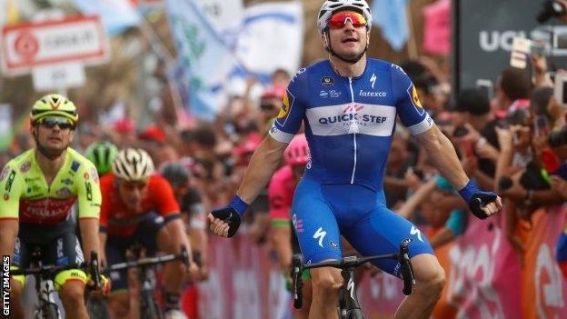 Elia Viviani wins in Tel Aviv