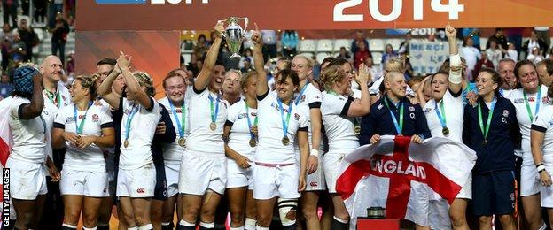 England win the 2014 Rugby World Cup