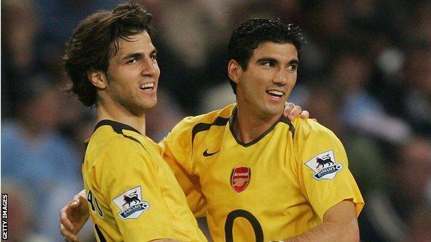 Cesc Fabregas (left) and Jose Antonio Reyes in 2006