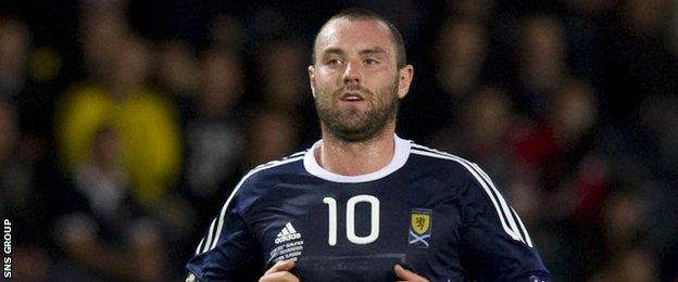 Kris Boyd in action for Scotland in 2010
