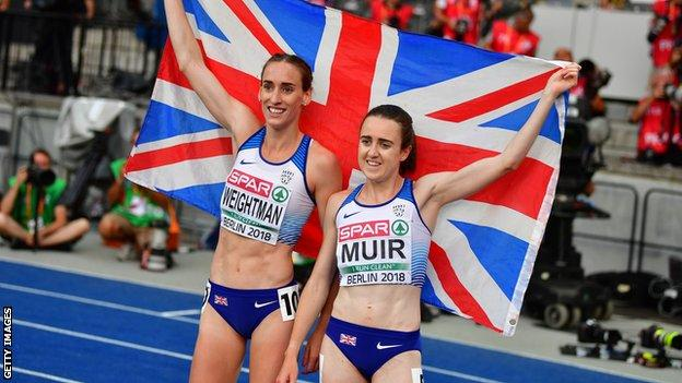 Laura Weightman and Laura Muir