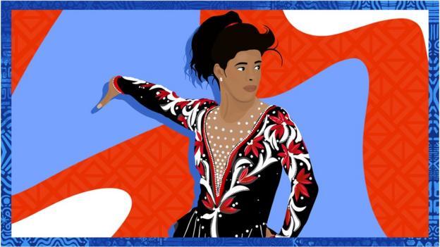 Illustrated image of Debi Thomas