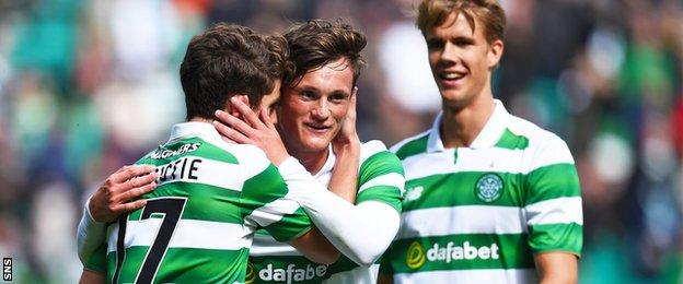 Celtic's Ryan Christie (left) and Liam Henderson