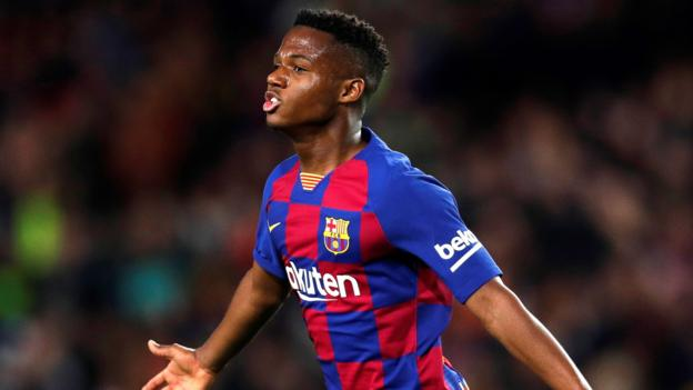 Barcelona 2-1 Levante: Ansu Fati scores twice in Barca win thumbnail