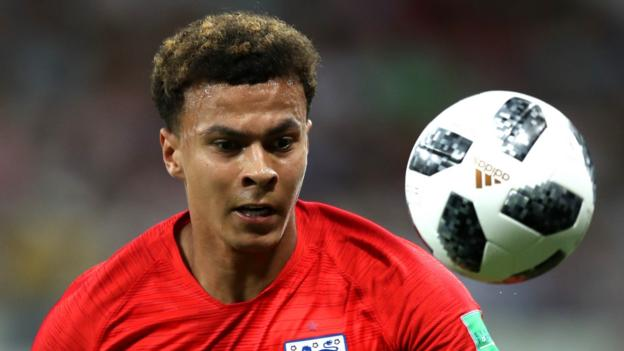 World Cup 2018: England midfielder Dele Alli suffers minor thigh strain - BBC Sp...