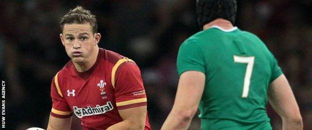 Wales wing Hallam Amos