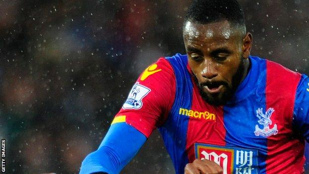 Hiram Boateng in action for Crystal Palace