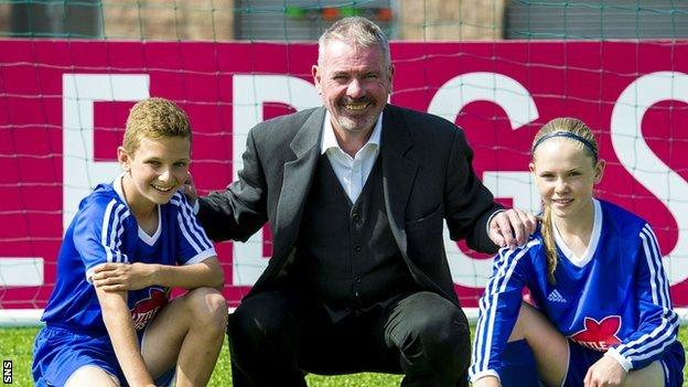 SFA performance director Brian McClair with Darren Watson and Neve Guthrie