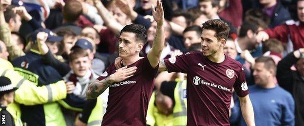 Jamie Walker celebrates his equalising penalty