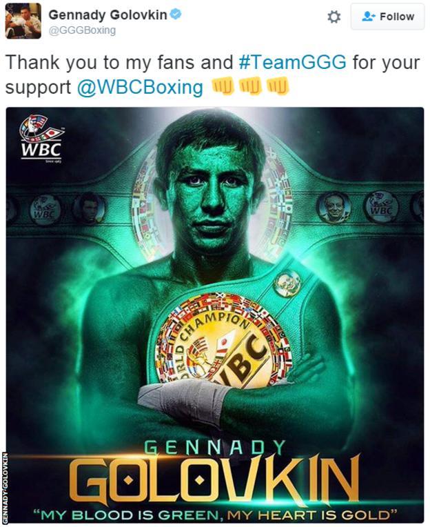 Golovkin tweet