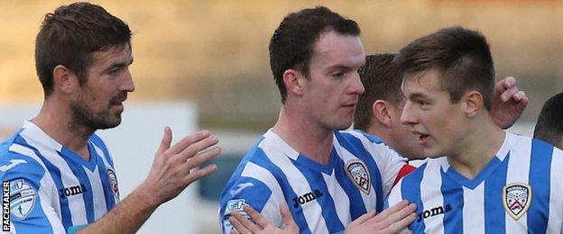 Coleraine beat Portadown 1-0 thanks to a goal by Brad Lyons