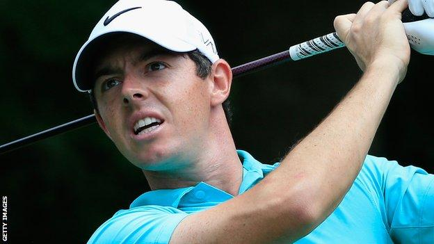 Four-time major winner Rory McIlroy