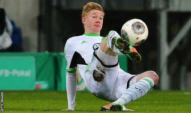 Kevin de Bruyne during his time at German side Wolfsburg