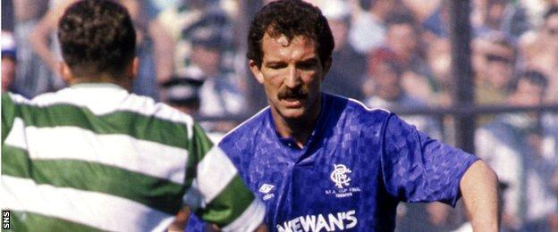 Former Rangers boss Graeme Souness plays in the 1989 Scottish Cup final against Celtic, who won 1-0
