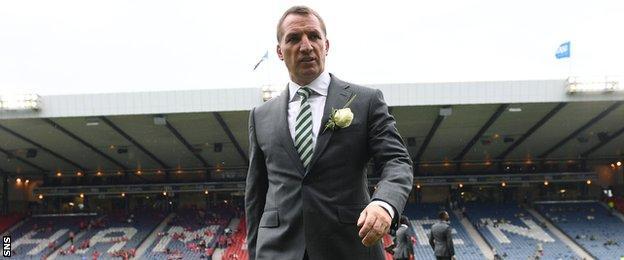 Celtic's Brendan Rodgers at Hampden