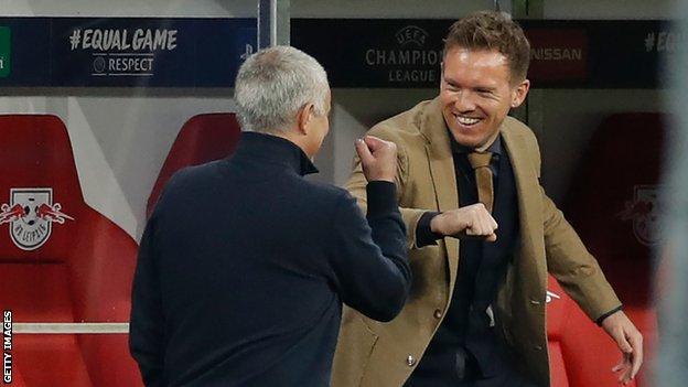 Jose Mourinho and Julian Nagelsmann