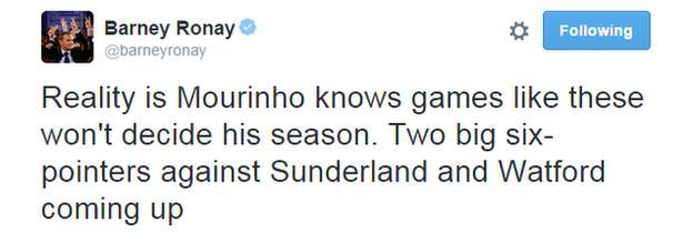 Barney Ronay Tweet