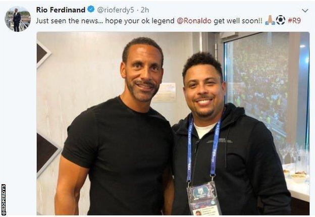 Rio Ferdinand and Ronaldo