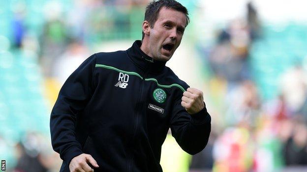 Ronny Deila celebrates Celtic's 3-1 win over St Johnstone