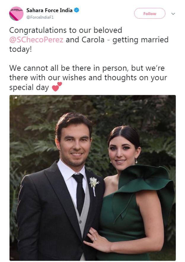Sergio Perez and Carola Martinez