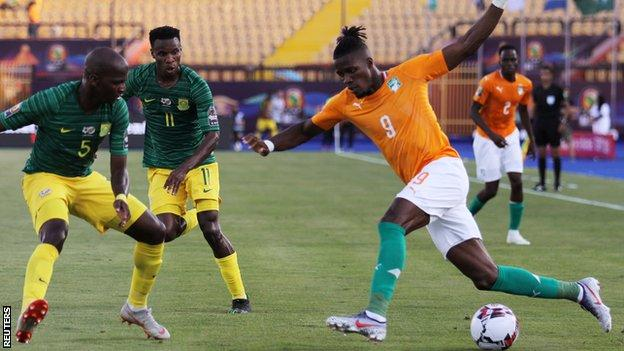 Wilfried Zaha has been in action for Ivory Coast at the Africa Cup of Nations