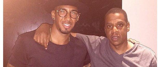 Jerome Boateng and Jay Z