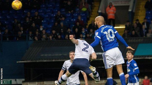 David McGoldrick headed his seventh goal of the season - and the 94th of his professional career