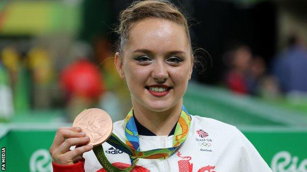 Amy Tinkler with her Rio 2016 bronze medal