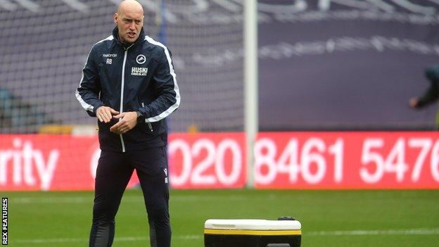 Millwall assistant manager Adam Barrett