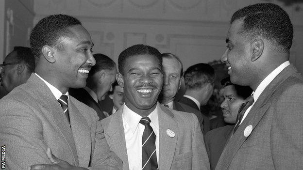 Frank Worrell, Everton Weekes and Clyde Walcott
