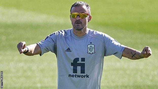 Luis Enrique en el seleccionador de España