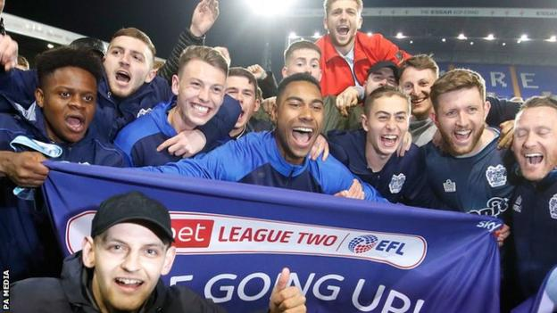 Bury celebrated promotion from League Two after a 1-1 draw with Tranmere in April 2019. Just four months later, the club would lose their place in the EFL