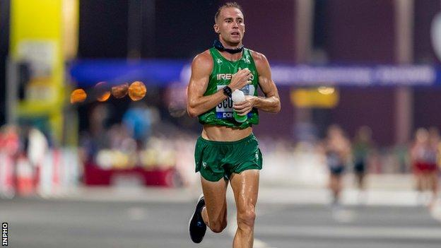 Stephen Scullion didn't wear the Nike Vaporfly shoe at last year's World Championship marathon but took the decision to wear them three weeks later at the Dublin Marathon