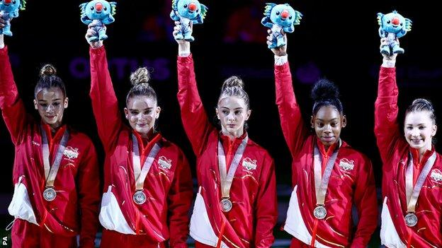 England women team gymnastics