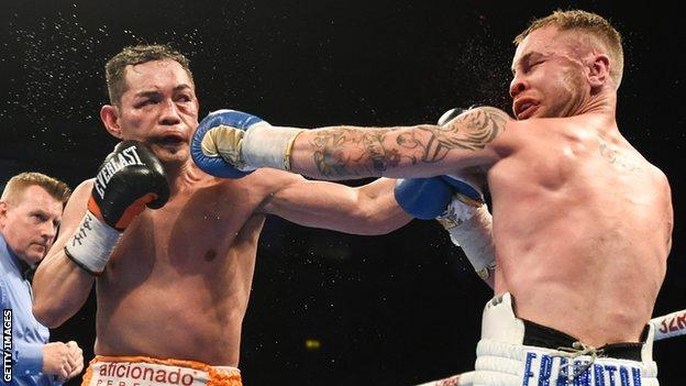 Carl Frampton scored a unanimous points win over Donaire in April