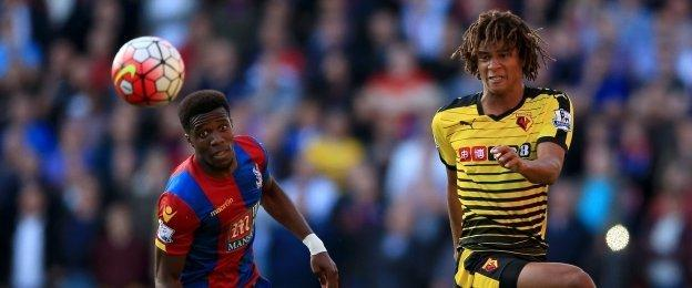 This match was heading for a draw until Wilfried Zaha, left, gave Palace extra spark as a second-half substitute