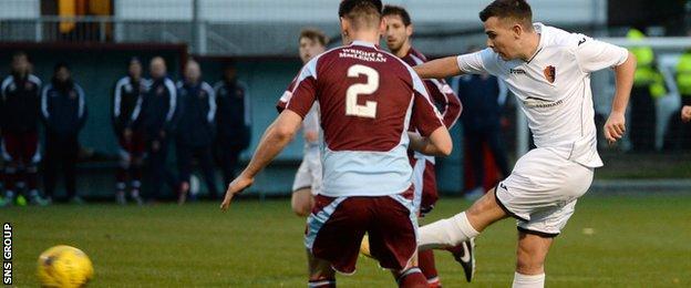 Bernard Coll opens the scoring for East Kilbride