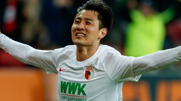 Ji Dong-won scores twice as FC Augsburg beat league leaders Borussia Dortmund