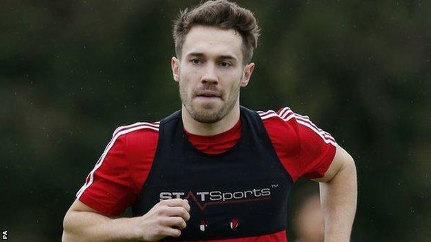 Walsall striker Tom Bradshaw