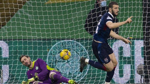 Alex Iacovitti sealed Ross County's victory with a header from a corner on 84 minutes
