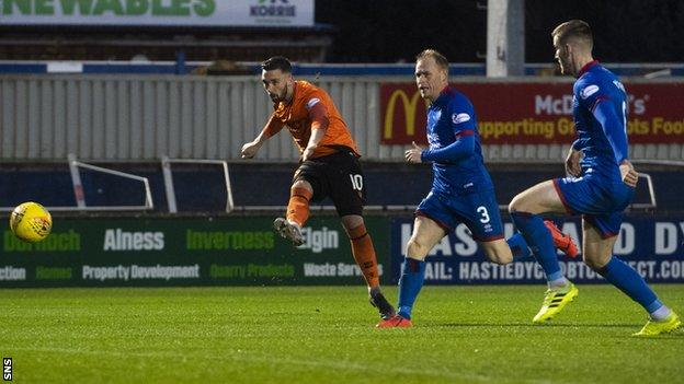 Nicky Clark's goal put Dundee United in control