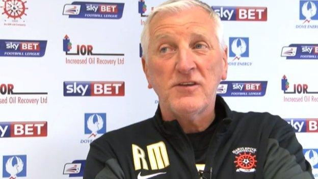 Hartlepool manager Ronnie Moore