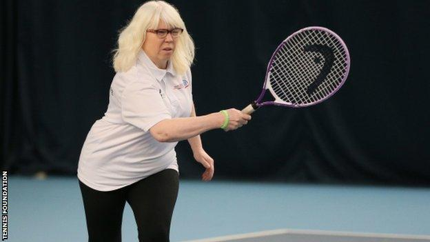 Jan Donnelly, visually impaired tennis player and coach