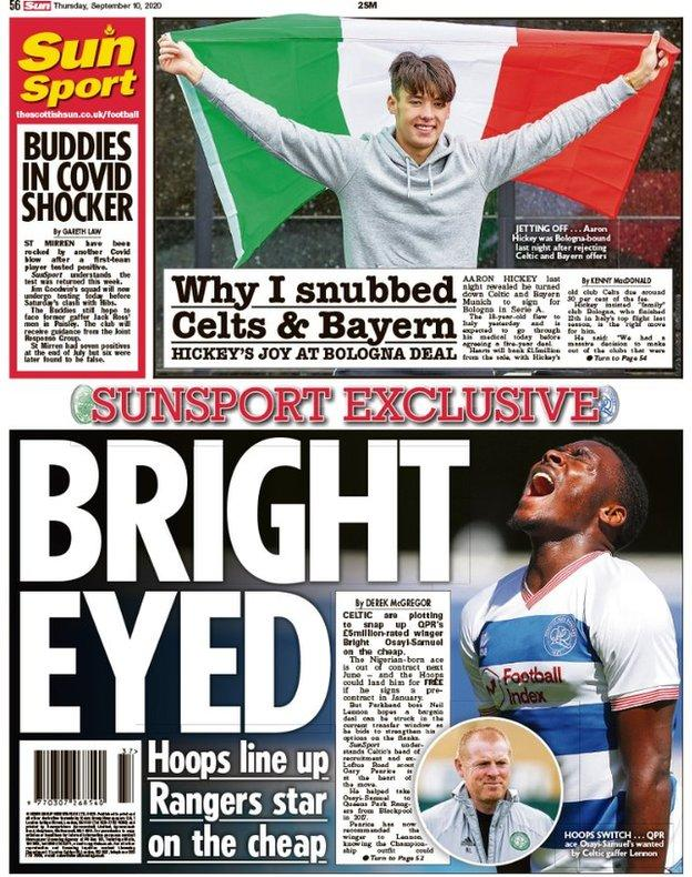 Sun back page