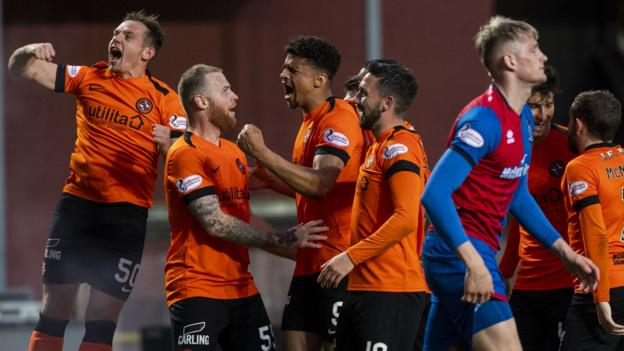 Premiership play-off semi-final: Dundee Utd 3-0 Inverness CT (4-0 on aggregate) thumbnail