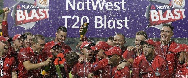 Lancashire T20 Blast champions