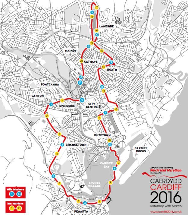 World Half Marathon route
