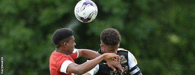 Action as Ghana side Right to Dream beat Swindon Town 8-1 in the Junior Section