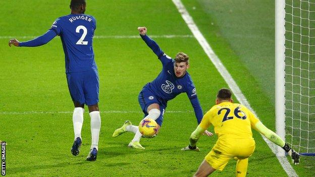 Timo Werner scores Chelsea's second goal
